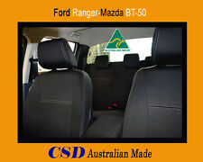 Seat Cover Ford Ranger PX MkII Heavy Duty Neoprene FRONT and REAR Std Design