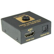 HDMI ARC Adapter to HDMI & Optical Audio Converter 4k 3D 1080P CEC Stylish