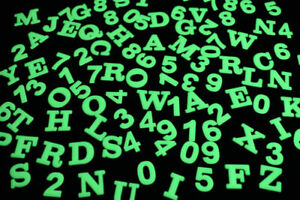 100 Piece Glow in The Dark Alphanumeric Letters Numbers Wall Ceiling Decor