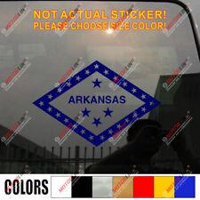 Arkansas State Decal Sticker Flag Car Vinyl pick size color die cut no bkgrd