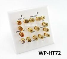 2-Gang 7.2 Surround Sound Distribution Audio Wall Plate w/ RCA, WPHT72