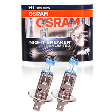 OSRAM NIGHT BREAKER UNLIMITED XENON LOOK H1 12V 55W +110% P14.5s DUO-BOX 2RS