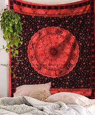 Indian Zodiac Bohemian Cotton Wall Hanging Mandala Tapestry Bohemian Queen Size