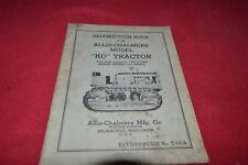 Allis Chalmers Model KO Crawler Tractor Operator's Manual RPMD