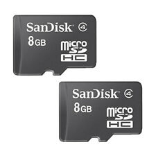 Lot of 2 SanDisk 8GB 8G Micro SD Micro SDHC Class4 Flash Memory Card (=16GB) -A