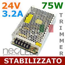 Alimentatore UNIVERSALE di Ottima Qualità 24V 4.2A 75W trimmer PER STRISCIE LED