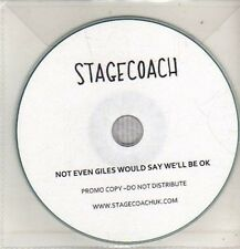 (CO364) Stage Coach, Not Even Giles Would Say We'll Be OK - 2010 DJ CD