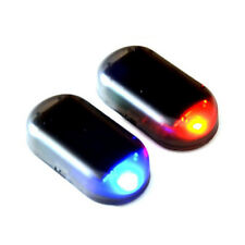 Solar Fake Car Anti Thief Alarm Red LED Flashing Warning Signal Lights Safety