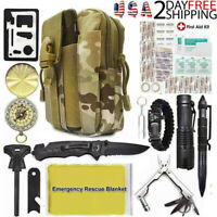 Survival Kit 40 In 1 Military Tactical Gear Outdoor Emergency Rescue Tools Pouch