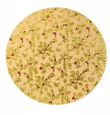 Christmas Party Decor Favor Beige Gold Holly Cake Board Round Cupcake Card Stand