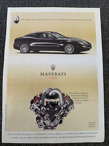 2002 Maserati print ad black Maserati Coupe