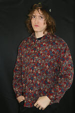 Vintage Psychedelic Pattern shirt 80s 90s skate surf  op paisley rare floral