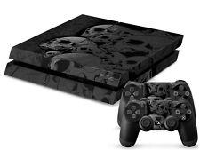 Sony PS4 Playstation 4 Skin Design Aufkleber Schutzfolie Set - Skulls Motiv