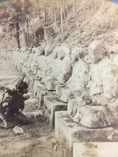 Stereoscope - Peasant Praying Before Images Of The God Of Light, Nikko Japan