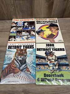 1980, 1983 1986 1987 DETROIT TIGERS YEARBOOKS