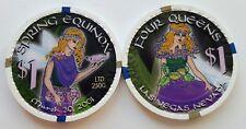 $1 Las Vegas Four Queens Spring Equinox Casino Chip - Uncirculated
