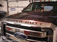 2008 - 2014 Super Duty Grill Insert Decal F-250 F-350 F-450 Hood Stickers BLACK
