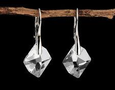 Cosmic Earrings w/ Genuine Swarovski Elements -Sterling Silver 925 Crystal Clear