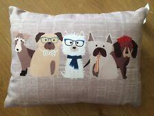"Next ""Pugs & Co"" Dogs Printed Cushion - 43x33cm - BNWT"