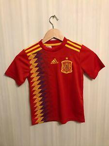 5+/5 Kids Spain 2017/19 Home XS Adidas shirt jersey football soccer 7-8Y Junior