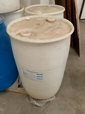 55 gallon Barrel Drum Plastic Water RAIN White Barrels drum drums container