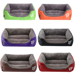 Pet Couch Dog Cat Sofa Bed Bolster Soft Suede Warm Cushion Deluxe Soft Washable