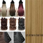 "3/4 Full Head Clip In Hair Extensions Real Thick Human Synthetic Long 17-30"" T99"