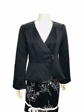 Project Runway All Stars by Seth Aaron Womens Faux Leather Trim Crop Jacket Sz 8