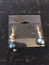 "Toned Earrings $35 (Dc) Premier Designs ""Spectrum"" Silver/Blue"