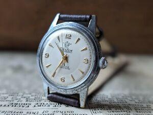 Gents Vintage Watex 21 Jewel Dauphine Guilloche Bullseye Dial Watch - Working