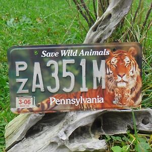 Véritable Plaque D'Immatriculation Pensylvanie (A351M)- license plate