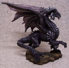 Figurine Dragon Dark Standing Medieval Fantasy Mythology New with gift box 8""
