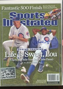 ALFONSO SORIANO CHICAGO CUBSNO LABEL SPORTS ILLUSTRATED signed autographed