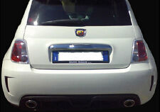 Paraurti Posteriore Fiat 500 07> Look ABARTH Tuning Vetroresina SPED GRATIS