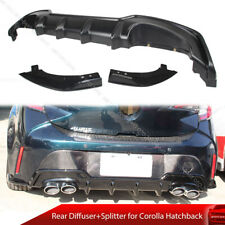 Painted For Toyota Corolla Hatchback E210 Auris Rear Diffuser + Splitter Canard