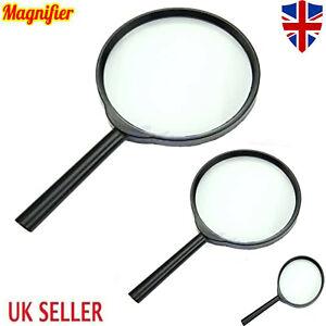 Magnifying Glass 60mm Magnifier Reading Large Lense Pockey Eye Aid UK Handheld