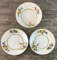 Royal Staffordshire Wilkinson Art Deco Floral Design Cake Plates & Serving Bowl.
