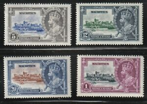 Mauritius   1935   Sc # 204-07   Silver Jubilee   MLH    (4026-1)