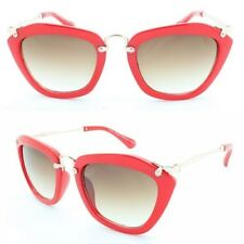Womens Fashion Metal Temple Exposed Screw Noir Inspired Fashion Sunglasses 1940s Red