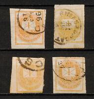 (YYAM 048) Hungary 1881 USED TYPE Variety Mich 26 Scott P4 Newspaper