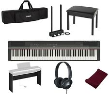 Yamaha P-125 Black 88-Key Digital Piano Bundle W/ Stand, Bench, Bag, Pedals, etc