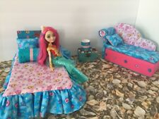 Barbie Or Ever After High.furniture Bedroom Set:Bed,sofa,lamp:Meeshell Mermaid
