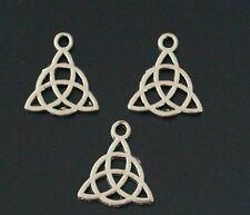 20 Tibetan Silver Celtic Knot Charms Pendants 17mm AB11