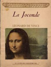 La Joconde Léonard De Vinci - Les Musée des Chefs-D'Oeuvre - Parigi 1947