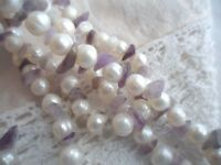Vintage Jewellery White Pearls and Amethyst Necklace