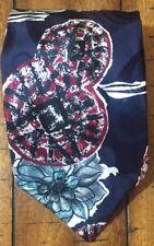 HALSTON Silk Tie Mens Italian Geometric Floral Medallion Black/Green/Red Necktie