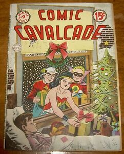 COMIC CAVALCADE comics #9 DC WONDER WOMAN Green Lantern FLASH Christmas cover