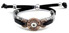 NEW! Western Adjustable Bracelet -  Shotgun 12 Guage Shell Cuff and Leatherette