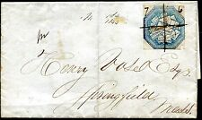1844 - U.S.A. - OLS BOSTON TO SPRINGFIELD WITH HALE & CO LOCAL CUT SQUARE , USED