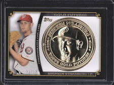 2012 TOPPS GOLD FUTURES STEPHEN STRASBURG NATIONALS COIN CARD SERIAL #ED 32/37